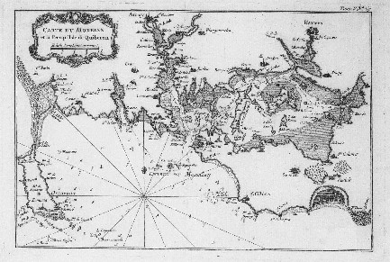 Carte du morbihan et la presqu 39 ile de quiberon cartes voiles aventures - Presse ancienne morbihan ...